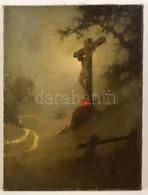 Sidelszki Jelzéssel: Krisztus A Kereszten. Olaj, Vászon, Festék Hibákkal, 80×60 Cm - Altre Collezioni