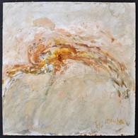 Somlai Vilma (1938-2007): Kompozíció, Olaj, Farost, Jelzett, 28×28 Cm - Altre Collezioni