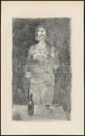Szász Endre (1926-2003): Férfi és Nő, 2 Db Rézkarc, Papír, Az Egyik Jelzett A Dúcon, 21×13,5 Cm - Altre Collezioni