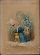 XIX. Sz. Vége. Uher Arisztid (?-?) : Gróf Festetics Andorné Dömjén Rózsa Színművésznő (1821- 1932), A Nemzeti Színház Sz - Altre Collezioni