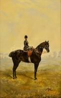 BroZech Jelzéssel: Hölgy A Lovon 1912. Olaj, Vászon, Keretben, 80×50 Cm - Altre Collezioni