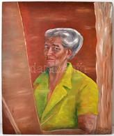 Ziffer Jelzéssel: Női Portré. Olaj, Farost, 82×68 Cm - Altre Collezioni