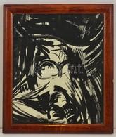 Jelzés Nélkül: Nonfiguratív. Akvarell, Papír. Üvegezett Keretben. 29x34 Cm - Altre Collezioni