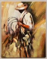 Jelzés Nélkül: Kalapos Férfi. Olaj, Vászon, 50×40 Cm - Altre Collezioni
