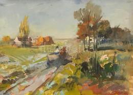 Jelzés Nélkül: Tájkép. Akvarell, Papír. 32x23 Cm Üvegezett Keretben. - Altre Collezioni