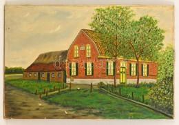 Jelzés Nélkül: Ház. Olaj, Vászon, 40×60 Cm - Altre Collezioni
