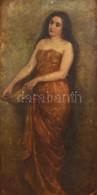 Jelzés Nélkül: Merengő. Olaj, Vászon-karton (sérült), Keretben, 72×36 Cm - Altre Collezioni