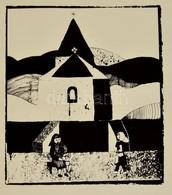 Jelzés Nélkül: Találkozás. Linó, Papír, 32×28 Cm - Altre Collezioni