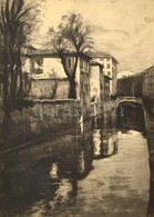 Olvashatatlan Jelzéssel: Milánó. Rézkarc, Papír, üvegezett Keretben, 32×23 Cm - Altre Collezioni