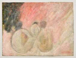 Olvashatatlan Jelzéssel: Három ülő Akt, Olaj, Karton, 28×36 Cm - Altre Collezioni