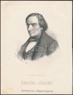 Cca 1867 Marastoni József: Josef Ressel Erdész Portréja, Litográfia, Papír, 27×21 Cm - Engravings