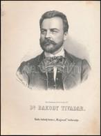 1867 Bakody Tivadar József (1825-1911) Orvos, Tanár Kőnyomatos Képe. Marastoni József Munkája. / Lithographic Image Of F - Engravings
