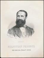 1867 Melnitzky Ferenc Szobrász Képe. Marastoni József Munkája. / Lithographic Image Of Franz Melnitzky Sculptor. 21x27 C - Engravings
