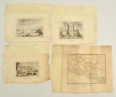 Cca 1800-1840 Réz és Acélmeszet Gyűjtemény. Franciaország Megyéinek Rézmetszetű Térképei, Valamint Acélmetszetű Képek A  - Engravings