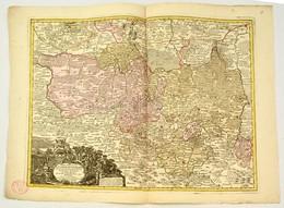 Lotter, Tobias Conrad: (1717-1777): Felső Lausitz Hercegség Rézmetszetű Térképe. Marchionatus Lusatiae Superioris Bohemi - Engravings