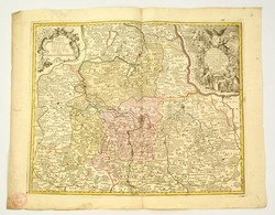 Lotter, Tobias Conrad: (1717-1777): Alsó Lausitz Hercegség Rézmetszetű Térképe. Marchionatus Lusatiae Inferioris Bohemia - Engravings