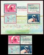 (293-294) Botswana  2017 / Birds / Oiseaux / Vögel / Vogels / Flamingos  ** / Mnh  Michel 1075-78 + BL 56 - Botswana (1966-...)