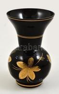 Festett üveg Váza. 16,5 Cm - Glass & Crystal