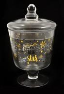 Süti, Kávékapszula, Vagy Más Tároló Fedeles üveg Kehely Eredeti Dobozában 19 Cm - Glass & Crystal