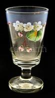 'Zum Andenken' Virágmintás Emlékpohár, Csorbával, M: 14,5 Cm - Glass & Crystal
