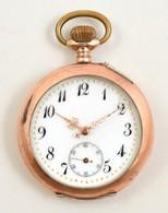 Aranyozott Ezüst Zsebóra Szép Számlappal, Működő Szerkezettel, üveg Nélkül, Egyébként Jó állapotban D:4,6 Cm - Jewels & Clocks
