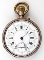 Remontoir Ezüst Fedeles Zsebóra, Hibátlan Számlappal, Szép állapotban, Tisztításra Szoruló Szerkezettel / Silver Pocket  - Jewels & Clocks