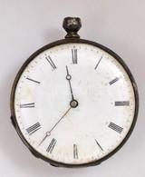 Részben Ezüst (Ag.) Tokos Kulcsos Zsebóra, Kulcs Nélkül, Jelzés Nélkül, Bruttó 48 G - Jewels & Clocks