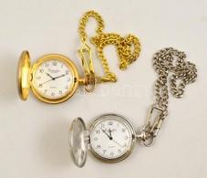 2 Db Eichmüller Quartz Zsebóra, Lánccal, Működik - Jewels & Clocks