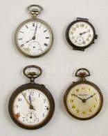 4 Db Zsebóra Alkatrésznek, Benne Ezüst Is - Jewels & Clocks