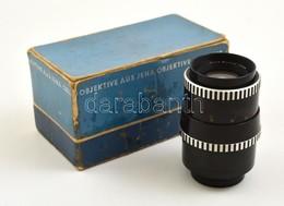 Carl Zeiss Jena Sonnar 135mm F/4 Teleobjektív, M42 Menettel, Jó állapotban, Eredeti Dobozában - Cameras