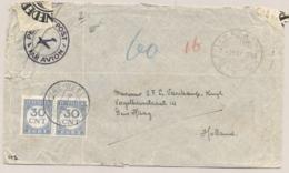 Nederlands Indie / Nederland - 1946 - Met 2x 30c Beporte Cover Van Nederlands Gezag Type Z MEDAN Naar Den Haag - Nederlands-Indië
