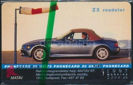 1999 BMW Z3 Roadster Használatlan Telefonkártya, Bontatlan Csomagolásban. Csak 2500 Db! / Unused Phone Card - Unclassified