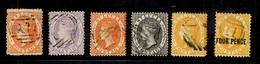 Sainte-Lucie Six Classiques Oblitérés 1864/1884. B/TB. A Saisir! - St.Lucia (...-1978)