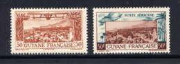 "GUYANE - A20/21** - VUE DE CAYENNE SANS ""RF"" - French Guiana (1886-1949)"