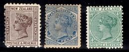Nouvelle-Zélande YT N° 63, N° 64 Et N° 65 Neufs *. Gomme D'origine. B/TB. A Saisir! - 1855-1907 Colonie Britannique