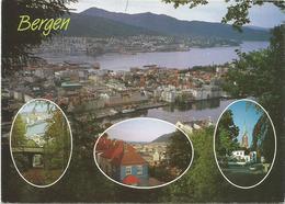 V2820 Norway Norge - Bergen - General View / Viaggiata - Norvegia