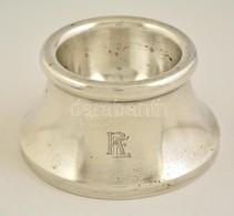 Ezüst (Ag.) Fűszertartó 'RE' Monogrammal, Jelzett, Mesterjeggyel, M:4 Cm, D:7 Cm, Nettó: 55 G - Jewels & Clocks