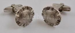 Ezüst(Ag) Mandzsettagomb Párban, Markazittal, Jelzett, Bruttó: 12,3 G - Jewels & Clocks