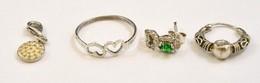 Ezüst(Ag) Bolha Tétel (gyűrű, Függő, Fél Pár Fülbevaló), 4 Db, Bruttó: 4,3 G - Jewels & Clocks