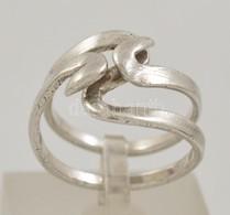 Ezüst(Ag) Hullámos Gyűrű, Jelzett, Méret: 56, Nettó: 4,8 G - Jewels & Clocks
