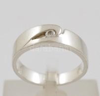 Ezüst(Ag) Gyűrű, Kővel, Jelzett, Méret: 56, Bruttó: 4,3 G - Jewels & Clocks