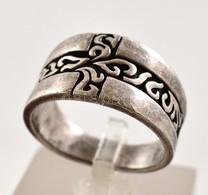 Ezüst(Ag) Masszív Gyűrű, Mintával, Jelzett, Méret: 61, Nettó: 9,2 G - Jewels & Clocks