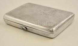 Ezüst(Ag) Orosz Jelzéssel Cigarettatárca, Jelzett, 11×8×2 Cm, Nettó: 166,2 G - Jewels & Clocks