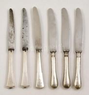 6 Db Különféle Ezüstnyelű Kés, Részben Solingen Pendével / Silver Knives. - Jewels & Clocks