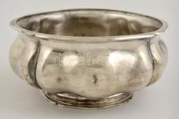 Antik Ezüst (Ag.) Tál, Jelzett, Apró Horpadással, M:8 Cm, D:16,5 Cm Nettó:439 G - Jewels & Clocks