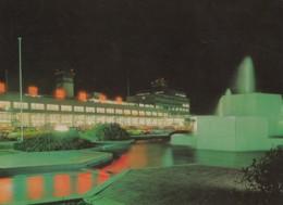 Tokyo Japan International Airport, Terminal Building At Night, C1960s/70s Vintage Postcard - Aerodrome