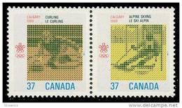 Canada (Scott No.1196a - Olympiques D'hiver / Calgary / Winter Olympics) (**) - 1952-.... Règne D'Elizabeth II
