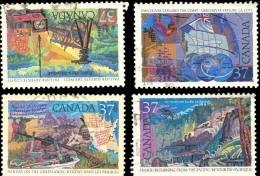 Canada (Scott No.1199-1202 - EXPLORATION OF CANADA - Serie 3) (o) - 1952-.... Règne D'Elizabeth II