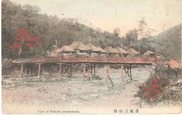 POSTAL   OTA GUNMA  -JAPON  -VISTA DE HAKONESAMMAIBASHI (ESTACION FERROVIARIA) - Japón