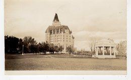 SASKATOON, Saskatchewan, Canada, Bessborough Hotel & Vimy Memorial, 1938 RPPC - Saskatoon